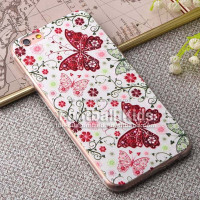 Factory Price Butterfly and flower pc soft cell phone accessories covers ultrathin PC phone case for iphone 6