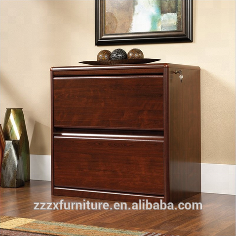 2-Drawer Lateral Wood File Cabinet in Classic Cherry