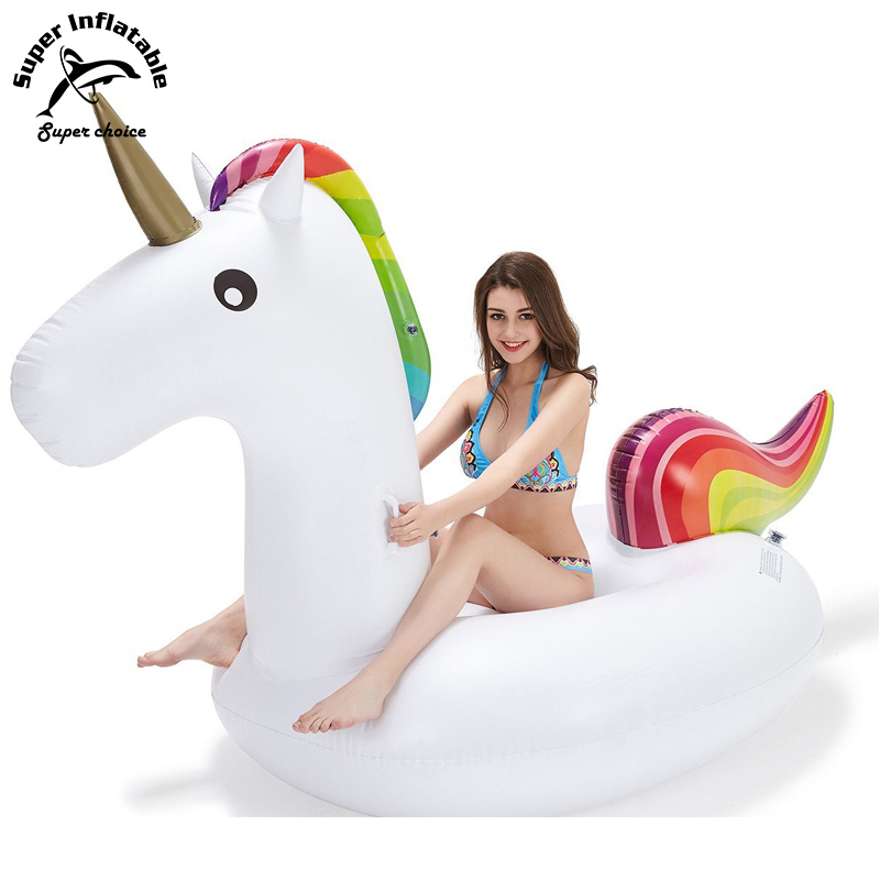 Rainbow Commercial Custom Giant Inflatable Unicorn Swimming Pool Float Toy