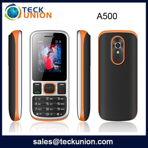 Factory price 1.77Inch QVGA Unlocked Quad Band Dual Sim Basic Function Cell Phone A500