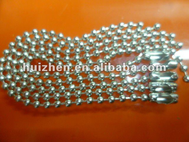 shiny small metal ball chain for bags