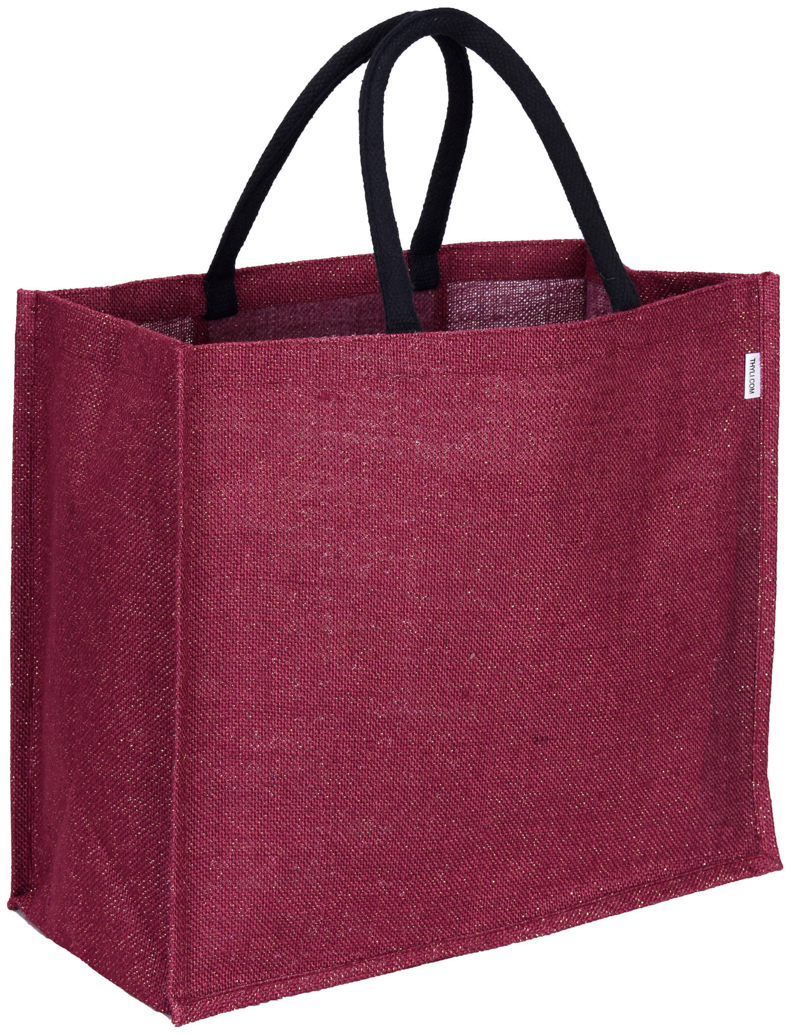 Reusable eco shopping grocery jute tote bag