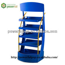 Blue capacity 5 layer be born more pallet display shelf