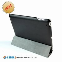 Black Leather Smart Cover case for the iPad 2 / new ipad 3
