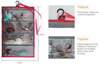 2016 Hotest Necklace Glasses Storage Bag Holder Wall Mount Storage Organizer Jewelry Holder