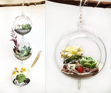 Classic Hanging Glass Ball vase Fish Aquarium Garden Window home decor vase