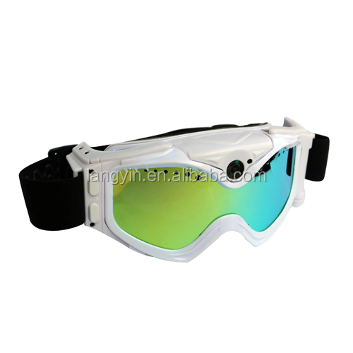 720P video camera goggles for skiing