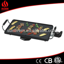 Eco Friendly 2000w 220-240v 44*23cm Non Stick Coating Electric Teppanyaki Grill with CE/EMC/GS/ERP Certification