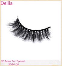 Dellia Own Brand Natural 3D Private Label Mink Eyelashes Natural And Dramatic Look