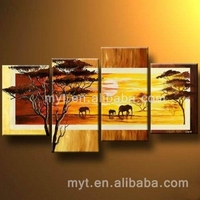 Fine Decoration Art Oil Color African Landscape Paintings