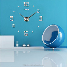DIY Large Wall Clock 3D Acrylic Sticker Home Office Decor 3D Wall Table Clock Big Size