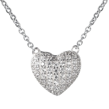 heart 925 silver necklace different types of pendant chains jewelry