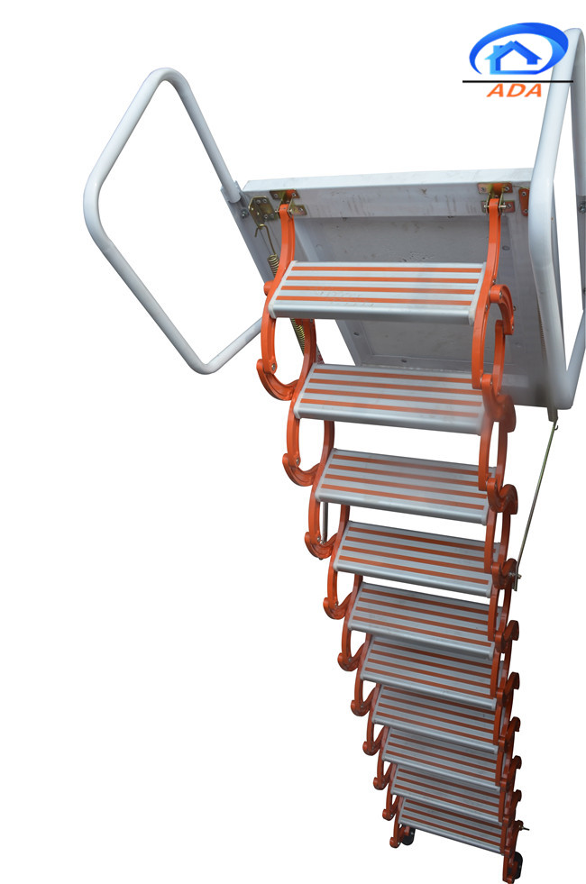 wall hanging collapsible sliding ladder for interior and outdoor