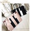 new design custom printed leather tote bag women saffiano leather handbags nude leather hand bags