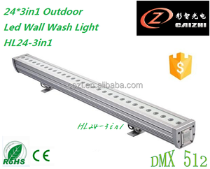 guang zhou Waterproof bar light led wall washer 3in1 24pcs stage light