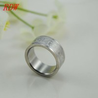 RDW,New Coming Charmed And Perfect Simple Silver Color Titanium Ring Design With Engraved Lace