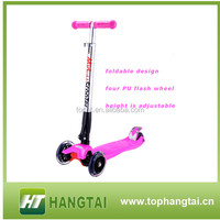 new product children foldable bicycle 4 wheel scooter kick scooter