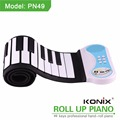 2017 Children 49 Keys Silicone Flexible Roll Up Piano Electronic Hand Roll Piano for Education
