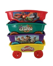 custom <strong>kids</strong> pull along wagon cart toy