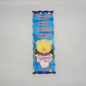 plastic cartoon bookmarks
