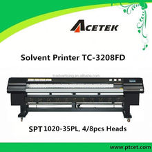 Hot sale challenger/phaeton/acetek series solvent printer Acetek TC-3208FD second hand printing machine