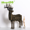 Antique Wooden DIY Deer Home Decoration