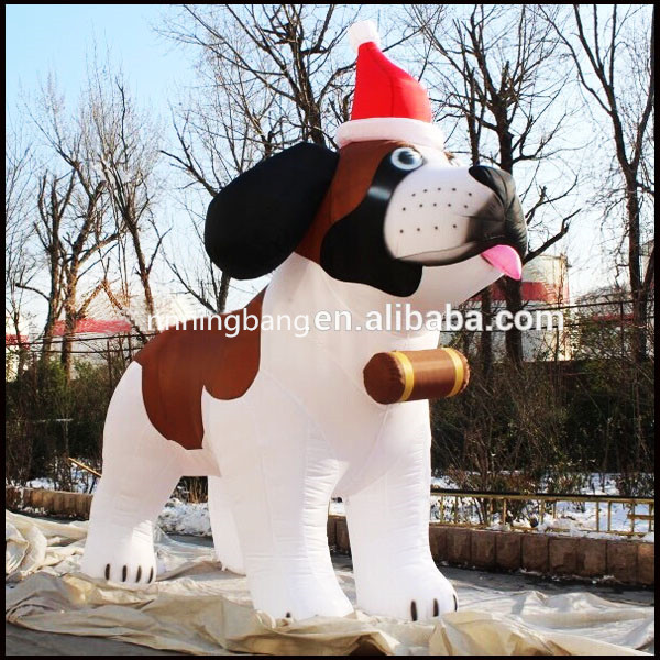 Lovely inflatable husky/inflatable CHRISTMAS dog cheap on sales