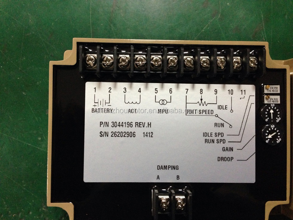 3044196 For Generator Speed Controller Panel