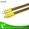premium hdmi cable Flat BLURAY 3D for DVD PS3 HDTV XBOX LCD 1080P with Ethernet