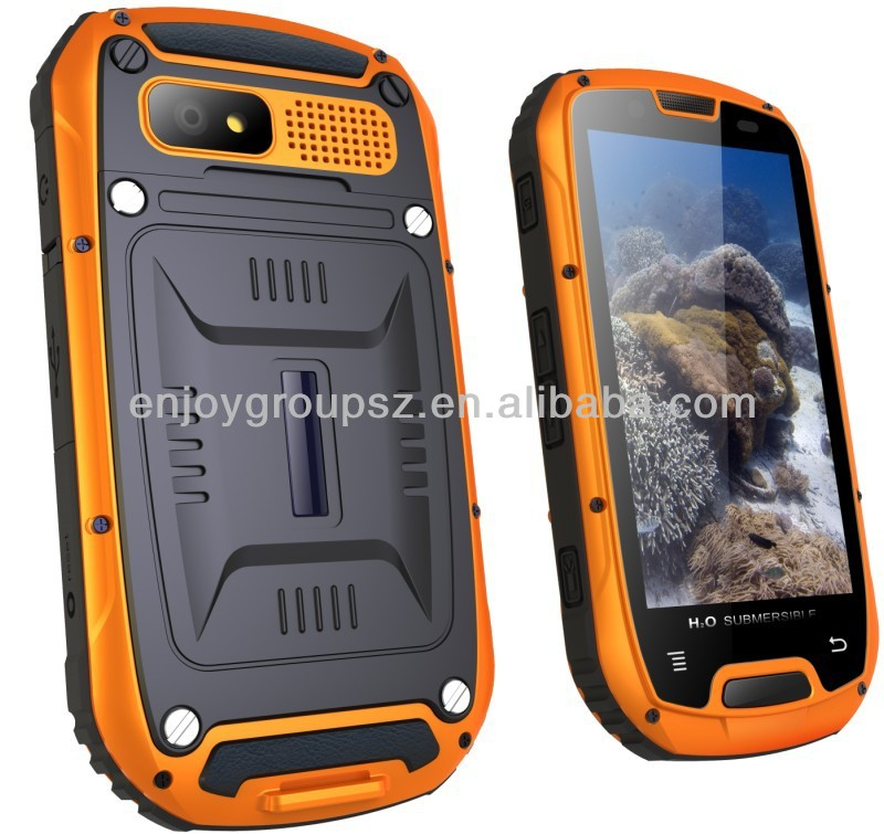 telephone portable 4.3inch IPS touch screen MTK6589 Quad Core 1.2GMHz 3G Android smart rugged phone