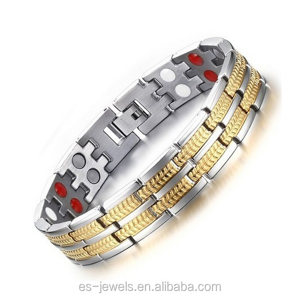 RM028 pure titanium bracelet with magnetic stone