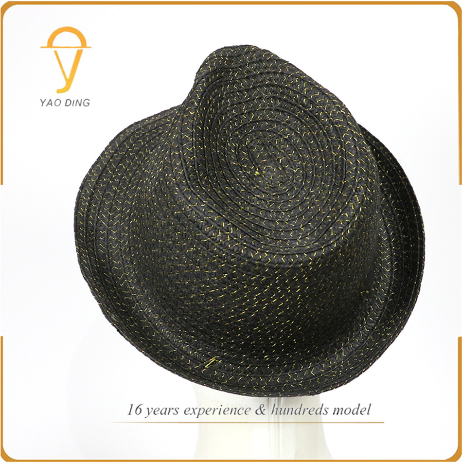Top selling products 2018 Promotion gift paper material making straw fedora hat