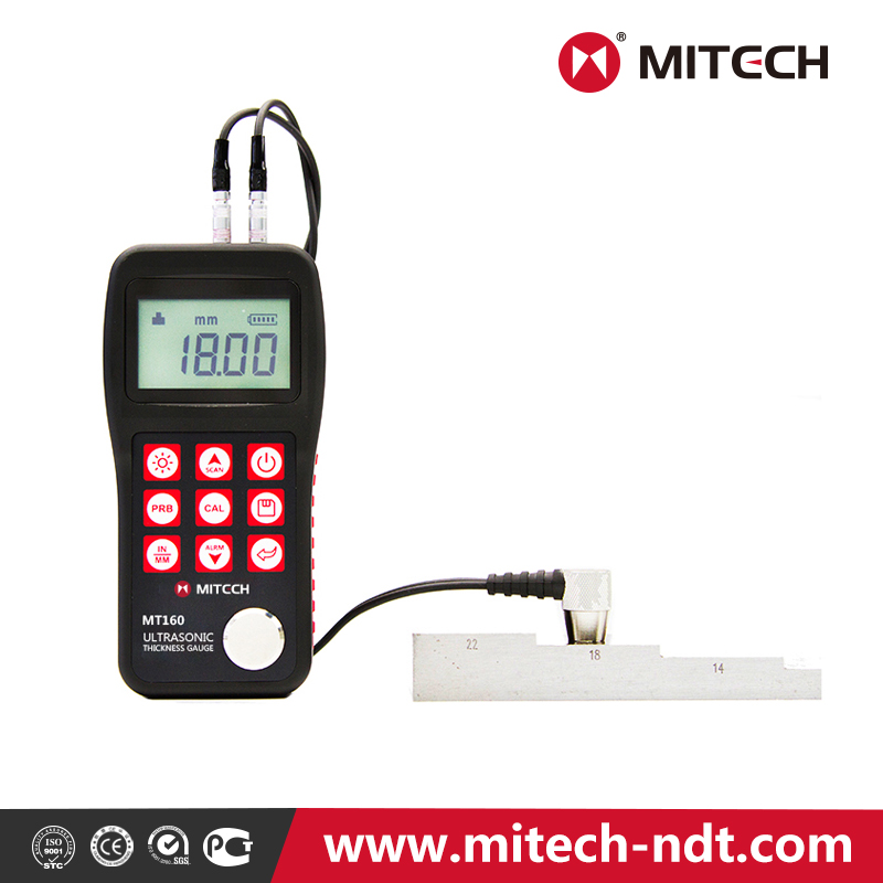 Mitech MT160 Portable Ultrasonic Thickness Gauge with high precision for improving production rate