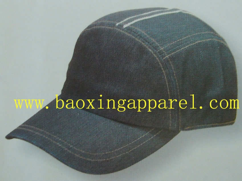 Denim Jean Polo Style Adjustable Low-profile Baseball Cap Caps Hat Hats