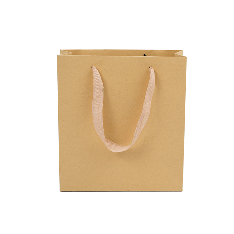 Custom printed rope handle shopping gift brown kraft paper bag