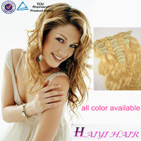 directly factory wholesale Best Selling Remy Double Drawn Smooth & Shining Clip In 15 Inch Hair