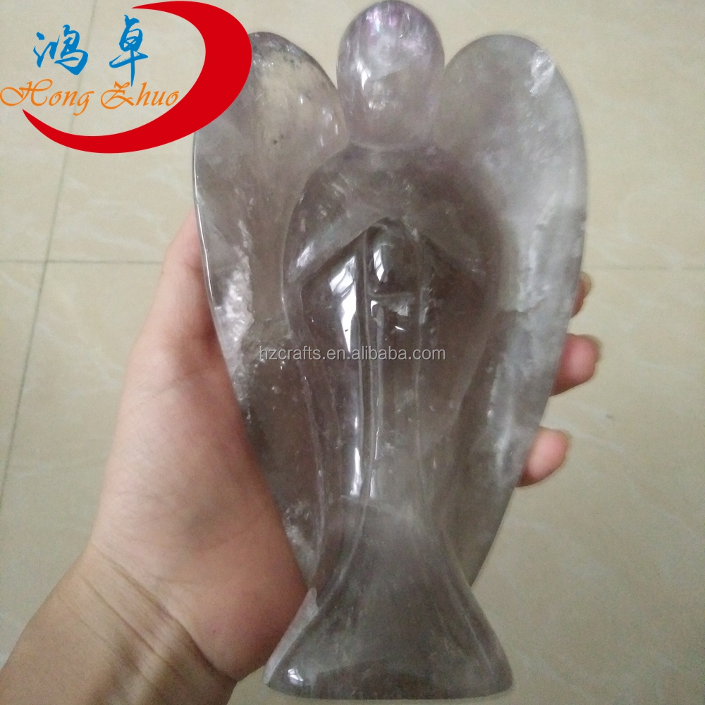 huge size Crystal craft Silver Effect Element Crystal Angel Figurine good for home decoration