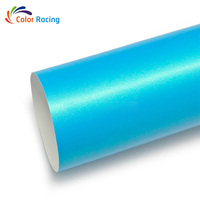 Best quality glossy self adhesive PVC car body film Magic gooden blue car wrap vinyl roll 152cm*20m