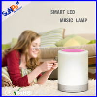Guangdong bluetooth powered speaker 2016 with Led Smart Touch Lamp