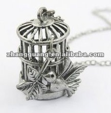 hot sale fashion birdcage pendant necklace jewelry