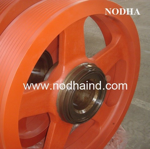 Customized large V belt pulley crusher pulley, mill pulley flywheel