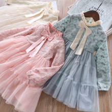 spring tulle <strong>dress</strong> <strong>girl</strong> kids clothes <strong>girl</strong> <strong>dress</strong> lace long sleeve bow children wears <strong>girls</strong> <strong>dress</strong> for 2-10 years ball gown
