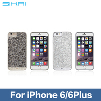 Luxury Flash Giltter Rhinestone hard back cover Glistening Bling Diamond protective phone case for iPhone 5 6 6plus