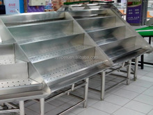 APEX supermarket shelf or grocery stainless steel fresh yam display shelf