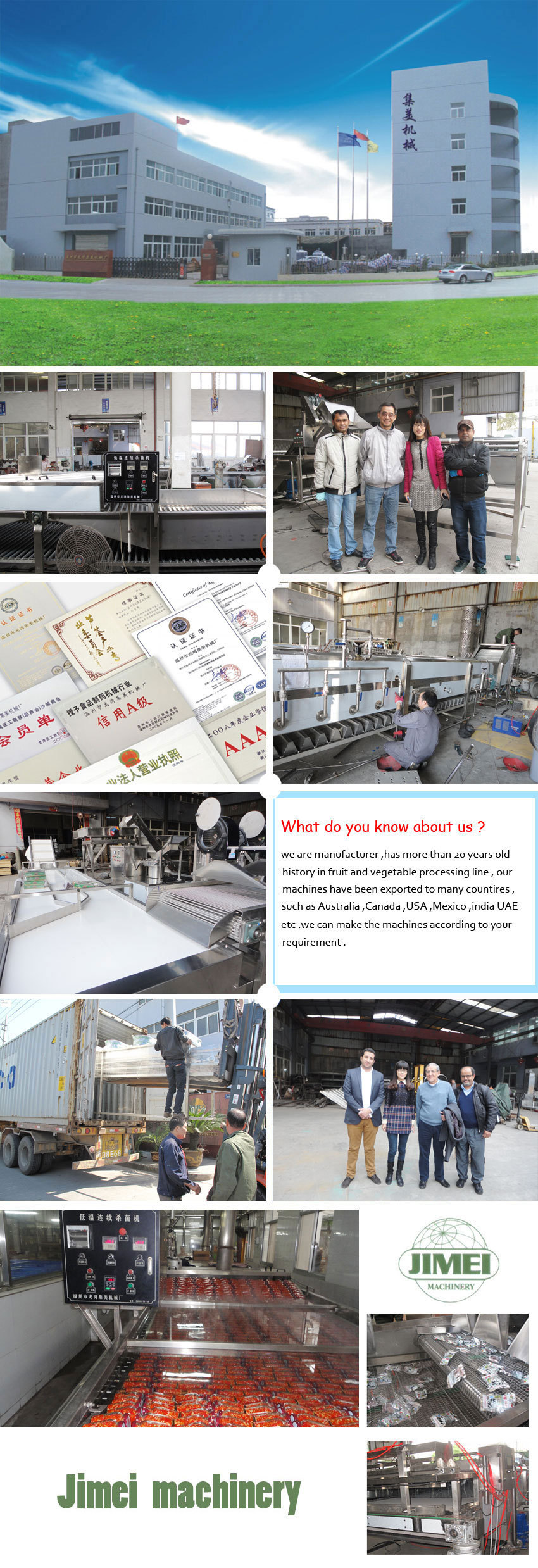 Special low temperature sterilization machine for canned fruit