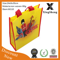 wholesale fashion glossy lamination cheap pp non-woven shopping bag