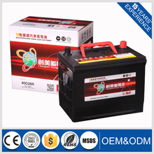 2016 best price 12v70ah Automotive battery for mf car battery