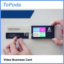2017 hot lcd video business card