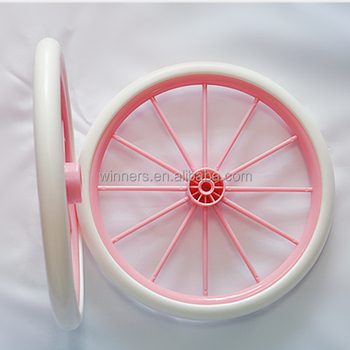 10 inch eva foam baby carriers wheel with plastic brake