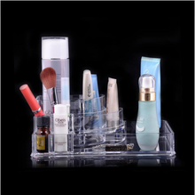Clear acrylic makeup mac cosmetic display stand